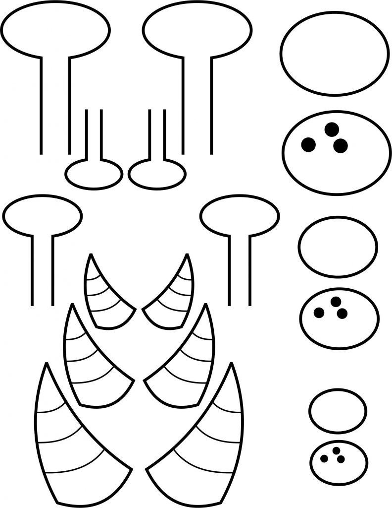mosnter template - paper plate monster