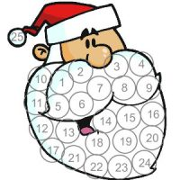 Image of 2016 December Coloring Calendar
