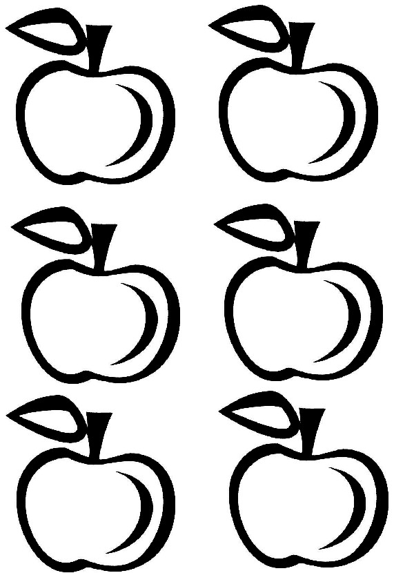 photo about Printable Apple Template named Printable Apple Crown