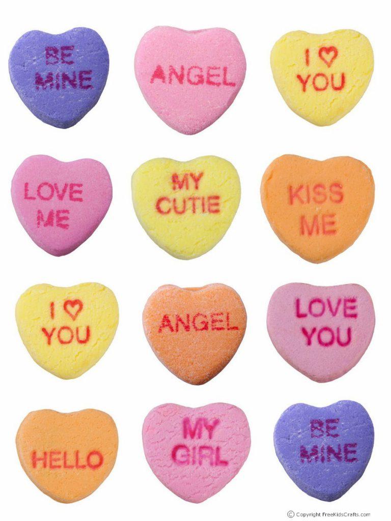 Printable valentine candy crown
