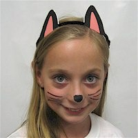 Image of Printable Black Cat Ears