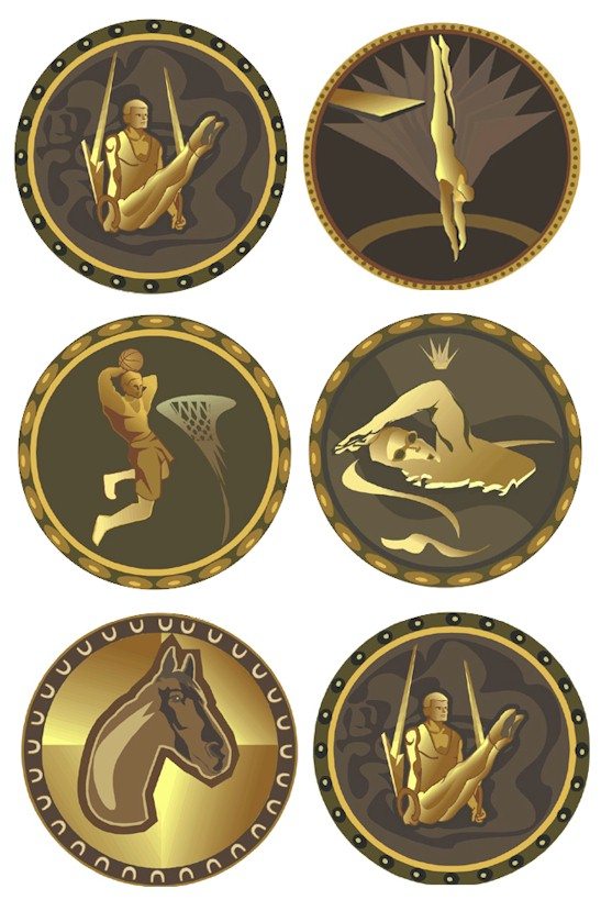 graphic about Printable Medals titled Printable Olympic Medals