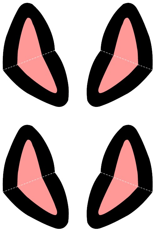 Pink Cat Ears Templates
