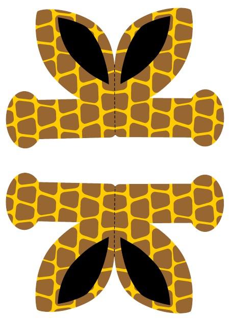 Printable Giraffe Ears on Animal Giraffe Crafts For Preschool