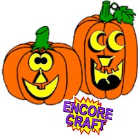 Image of Halloween Pumpkins Coloring Page