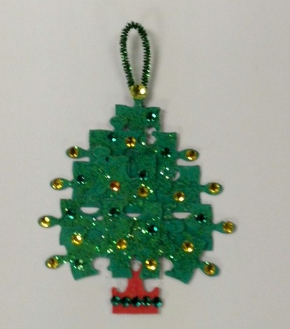 Image of Puzzle Piece Christmas Tree