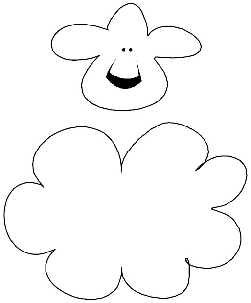 Puzzle piece lamb for Lamb template to print