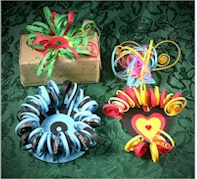 Quilled Gift Package Ornaments