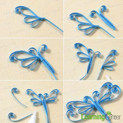 Quilled butterfly for Easy quilling designs step by step
