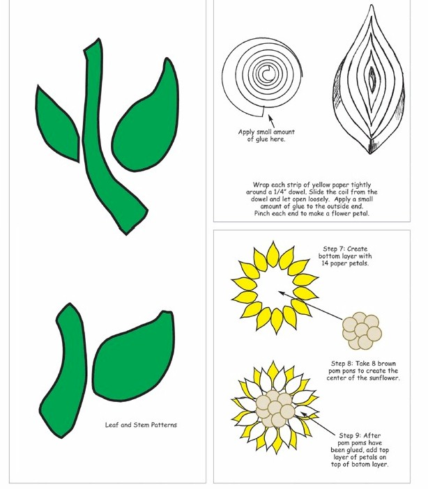 quilled-sunflower-frame-pattern