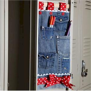 Recycled Jeans Locker Organizer