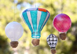 Image of Recycle Light Bulbs into Hot Air Balloons