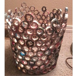 Recycled Magazine Wastebasket