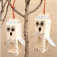 Image of Egg Carton Owl
