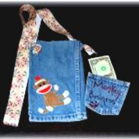 Image of Recycled Jeans Lunch Bag