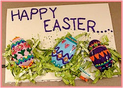Recycled Spoon Easter Card