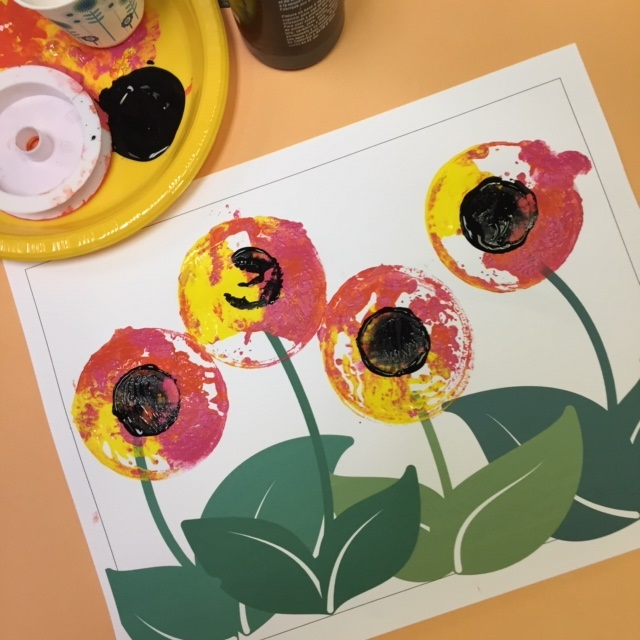 Easy Recycled Stamping Craft for Children