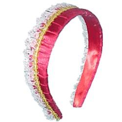recycled lace valentine headband