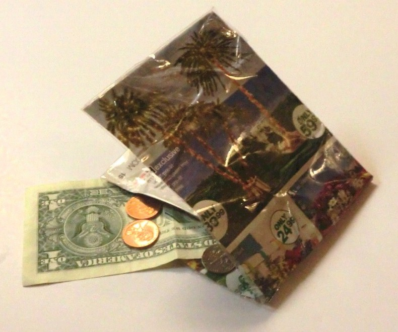 Recycled Magazine Wallet