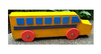 Recycled Yellow School Bus