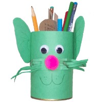 Recycled Kitty Pencil Holder