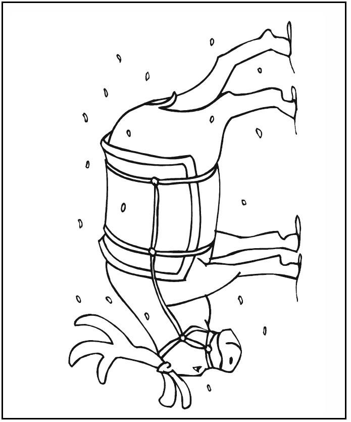 reindeer-colring-page
