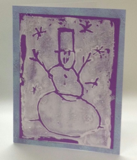 Relief Painting Snowman Card