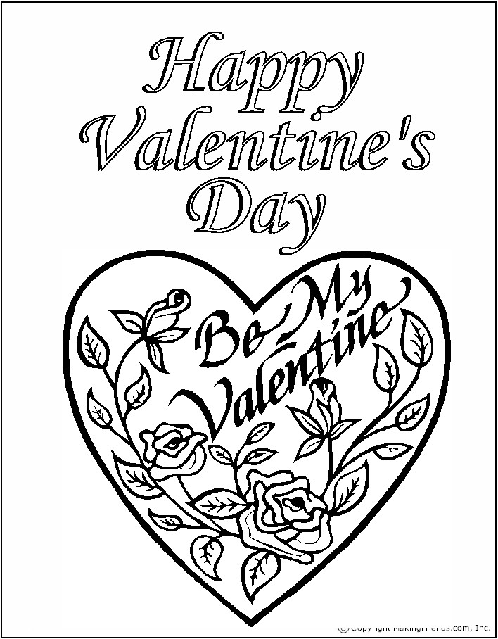 8 valentines day coloring pages for Valentines days coloring pages