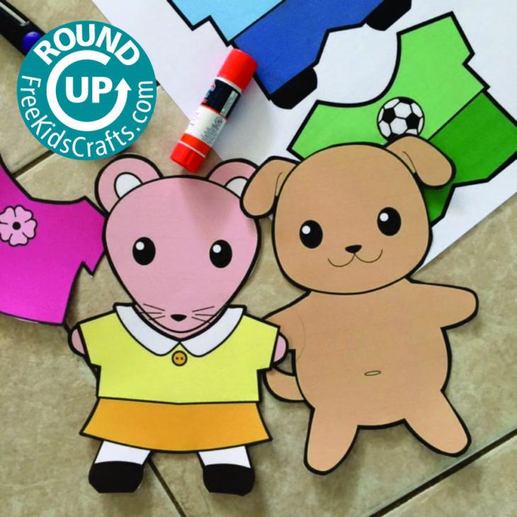 Roundup of Preschool Clothing Crafts