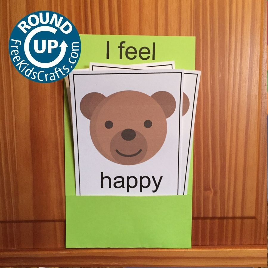Crafts to help young children show their emotions.