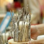 Rustic Silver Twig Candle