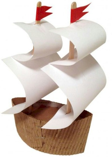 Columbus sailing ship for kids to make