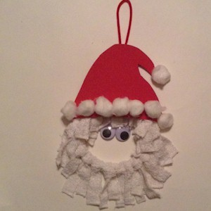 How To Make A Santa Wreath