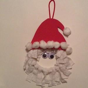 How To Make A Santa Wreath
