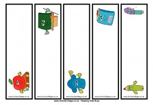 Image of Back To School Bookmarks