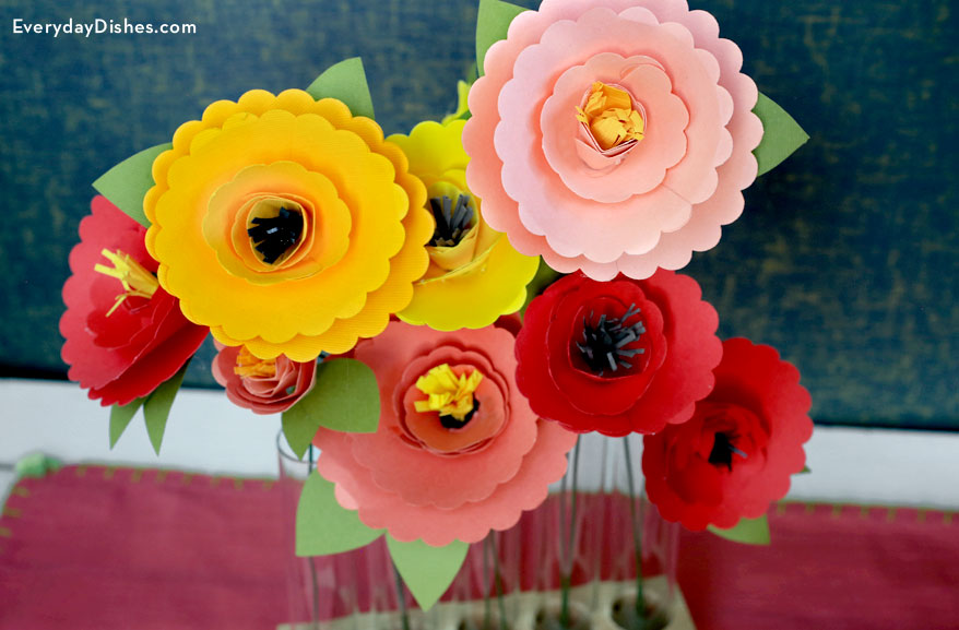 Image of Paper Flowers From Books