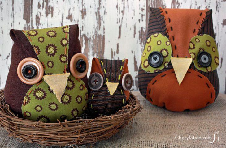 Scrap Fabric Owl