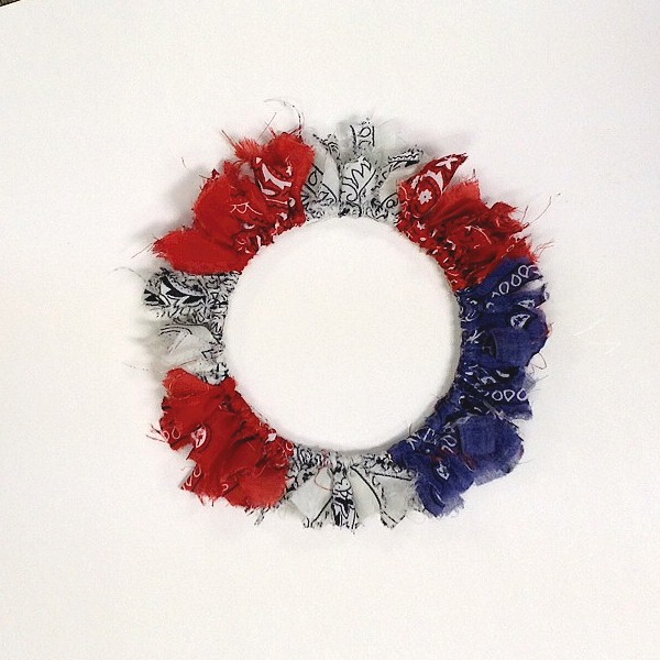 Shabby Chic Patriotic Wreath