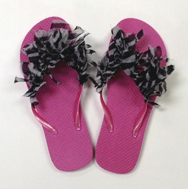 Image of Shabby Chic Flip Flops