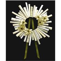 Sheet Music Wreath Craft