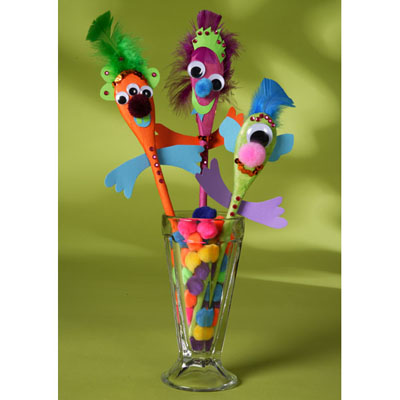 Silly Puppet Spoons