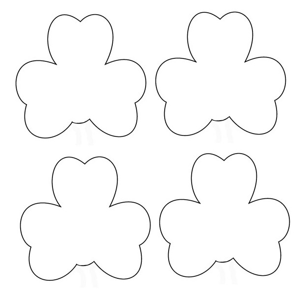 photograph relating to Shamrock Template Printable titled Shamrock Person