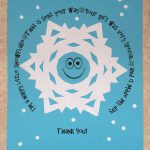 Printable Snowflake Thank You