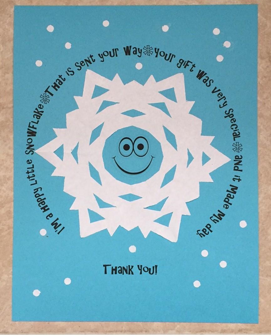 Image of Printable Snowflake Thank You