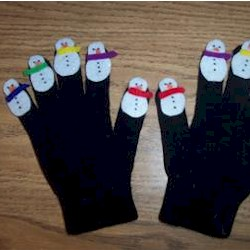 Snowman Puppet Gloves