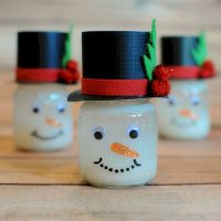 Image of Canning Jar Lid Snowman