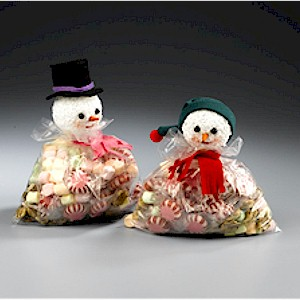 Snowman Favor Treat Bag Craft