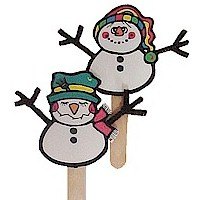 Image of Beaded Snowman Pin