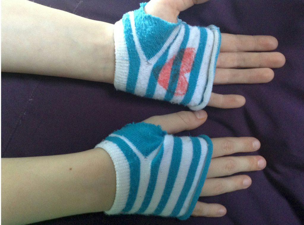 Recycled Sock Gloves