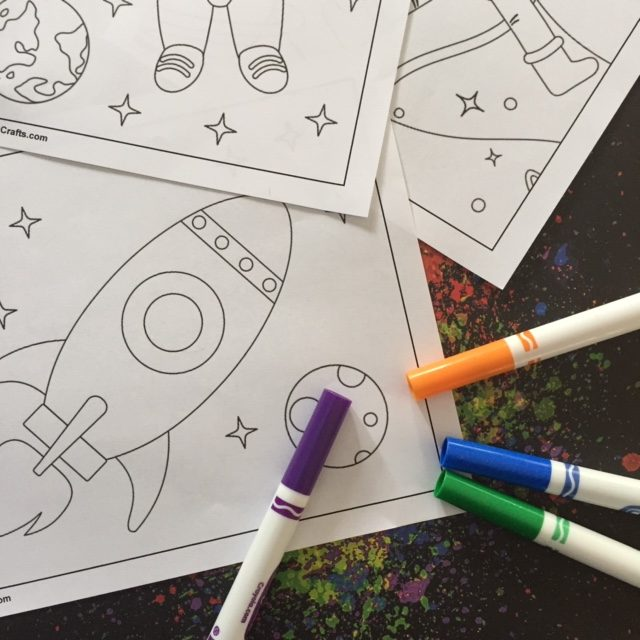 Free Printable Space Coloring Pages for young children